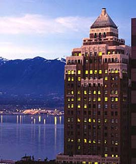 The Sheraton Suites Le Soleil in Vancouver